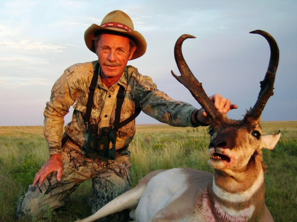 Hunter with Pronghorn Antelope